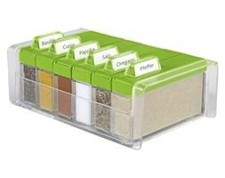 Pudełko na przyprawy + 6 pojemników EMSA Spice Box zielone EM-508458 - do kupienia: www.superwnetrze.pl